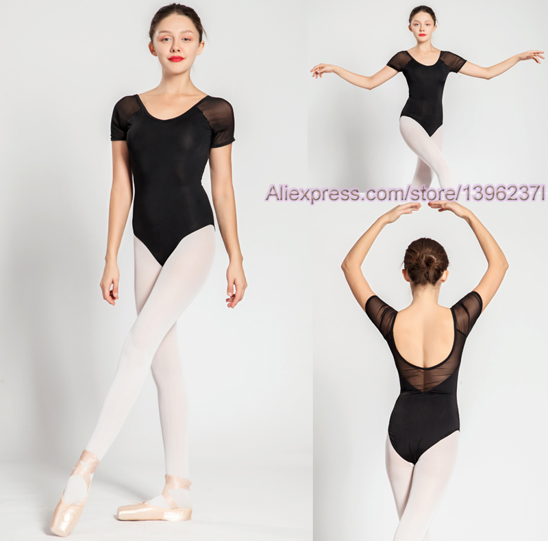 Ballet Leotard For Women 2018 Short Sleeve Comfortable Ballet Practice Dance Costume Adult High Quality Gymnastics Leotard