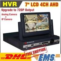 2015 New 4 Channel AHD 7inch LCD 720P Hybrid HVR DVR NVR CCTV 4CH DVR Recorder