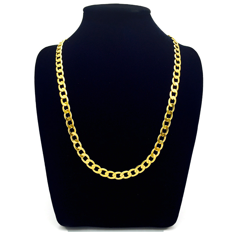 8mm wide high polished yellow gold filled solid 60cm long cuban chain  necklace unisex jewelry-in Chain Necklaces from Jewelry   Accessories on ... 15869ffdbd