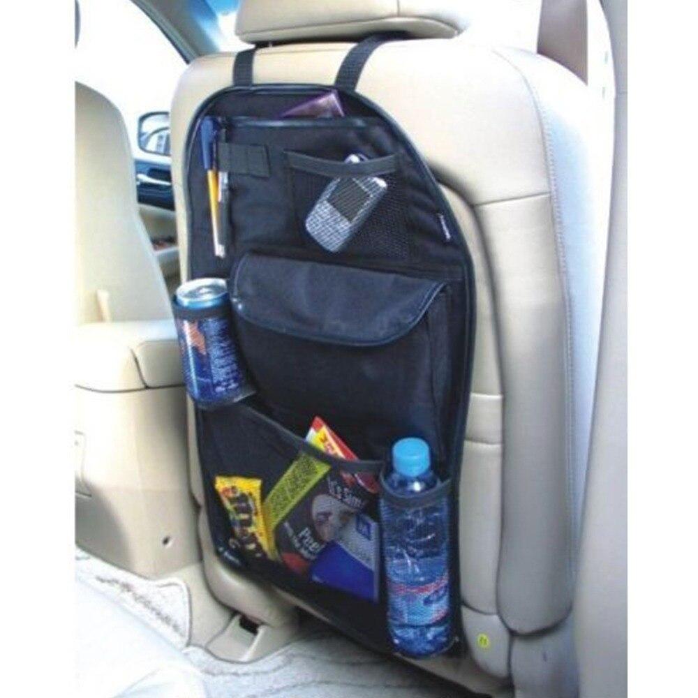 Encell Auto Multi-Pocket Back Seat Storage Bag Car Seat Organizer Holder Car Styling Cup Food Phone Storage foldable car umbrella holder storage bag blue ivory white