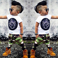2017 New style summer Baby Clothing Sets Boy Cotton cartoon Short Sleeve 2 pcs Baby Girl Clothes SY135