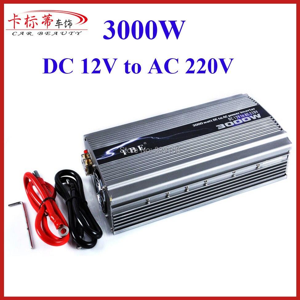 цена на High Power 12V 24V Car Power Inverter 3000W Charger DC 12V TO AC 220V Peak Power 6000W Car Converter 3000W Adapter