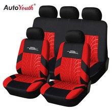 Авточехлы AUTOYOUTH Универсальный  Цвет Красный Синий  Серый 9 Шт. Набор Чехол на сиденье чехлы на авто,чехлы на сиденья автомобиля накидки на сидения авто, чехлы автомобильные