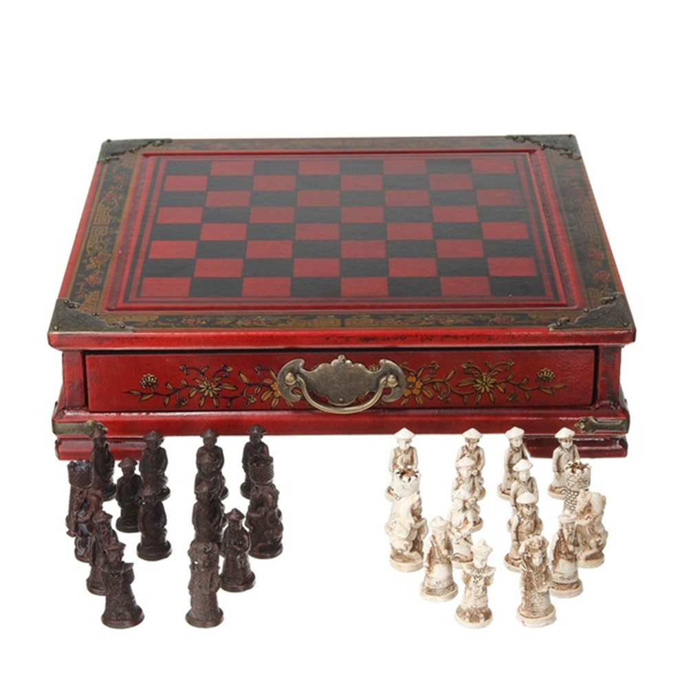 1 Set Folding Chessboard Wooden Chess Set Chess Supplies Chessboard For Children Ahult Board Chess Game
