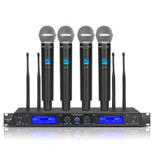 G-MARK G440 Wireless Microphone System Professional 4 Channels Dynamic Handheld Mic Karaoke Party Stage
