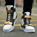 Hot Sales! 2016 Spring  Newest Fashion Men Shoes  Shoe High Top Metal Sequins Mens Casual Shoes Free shipping