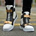 Vendas Hot! 2016 Primavera Mais Recente Moda Homens Sapato Sapatos High Top de Metal Lantejoulas Mens Casual Sapatos Frete grátis