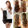 Fashion Women Ponytails Hair Extensions Long Curly Synthetic Hair Pony Tail Extension Wavy Hairpiece