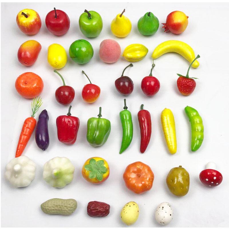 20pcs/bag Foam Small Fruit And Vegetable Models Mini Fruit And Vegetable Artificial Fruits