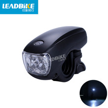 Leadbike 2017 Bicycle Front Light 5 LED Super Bright Headlight Waterproof Bike Safety Warning Lights Night Riding Accessories
