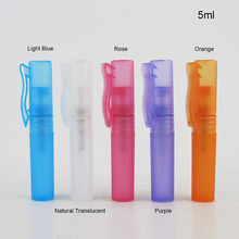 100 x 5ml Travel Portable Perfume Bottle Spray Bottles sample 5cc 3containers atomizer Mini Refillable bottles Plastic Pen Shap