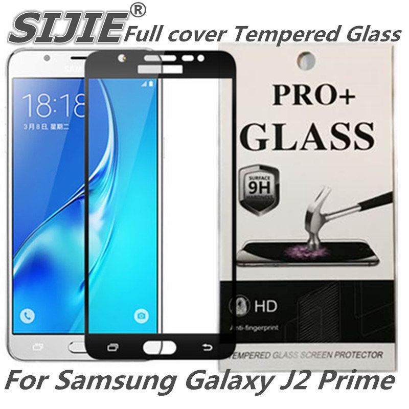 Full cover Tempered Glass For Samsung Galaxy J2 Prime G532 G532F G532M G532G Ace Screen protective black White gold 5 inch frame in Phone Screen Protectors from Cellphones Telecommunications