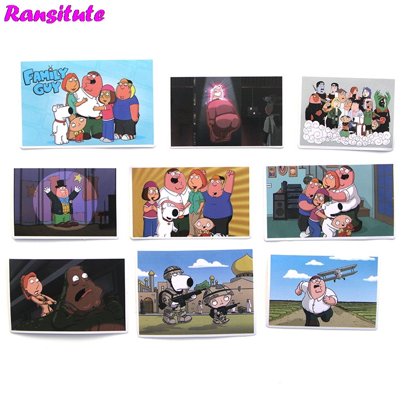55pcs/set Family Guy Funny Children's Toy Stickers DIY Luggage Laptop Skateboard Motorcycle Mobile Phone Waterproof Stickers