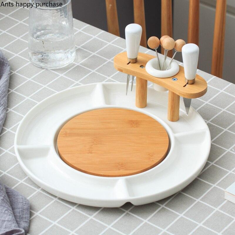 Фруктовый небольшой поднос, в скандинавском стиле, домашняя гостиная, творческая Фруктовая тарелка, домашнее украшение, конфета, закуска, керамический маленький поднос Блюдца и тарелки    АлиЭкспресс - сервировка