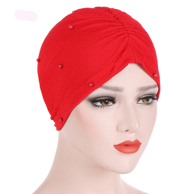9a8e7bd5c18 Women Muslim Hijab Stretch Turban Hat Wrap Chemo Cap Hair Loss Head Scarf  Beanies Hat Solid Winter Warm Cap Fashion Accessories