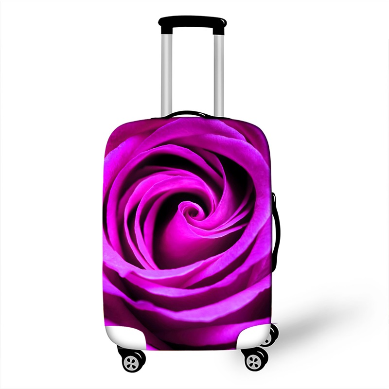 18 - 32Inch Rose Print Women Luggage Covers Elastic Protective Covers For Suitcases Travel Accessories Dust-proof Case Covers