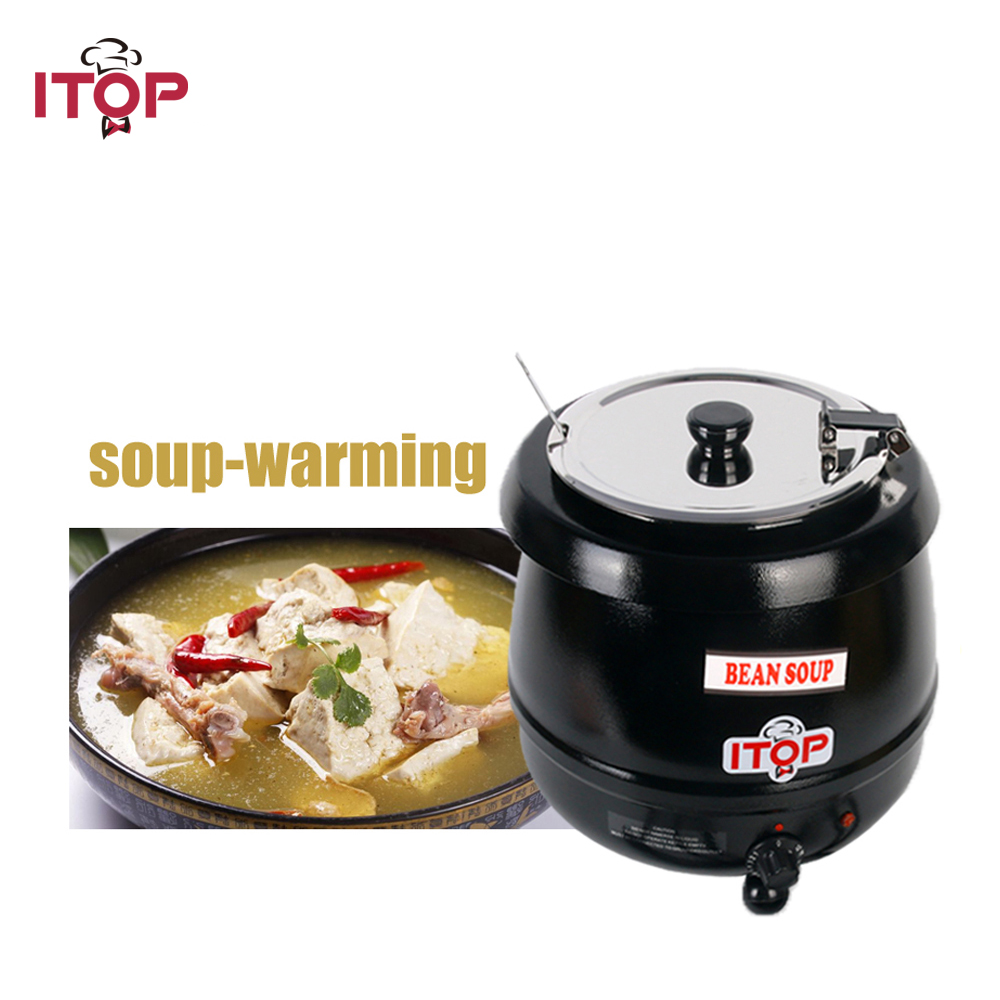 ITOP Soup Pots Kettle Electric Wet Heat Warmer Adjustable Temperature Water Boiler Food Pots For buffet Restaurant 110V/220V