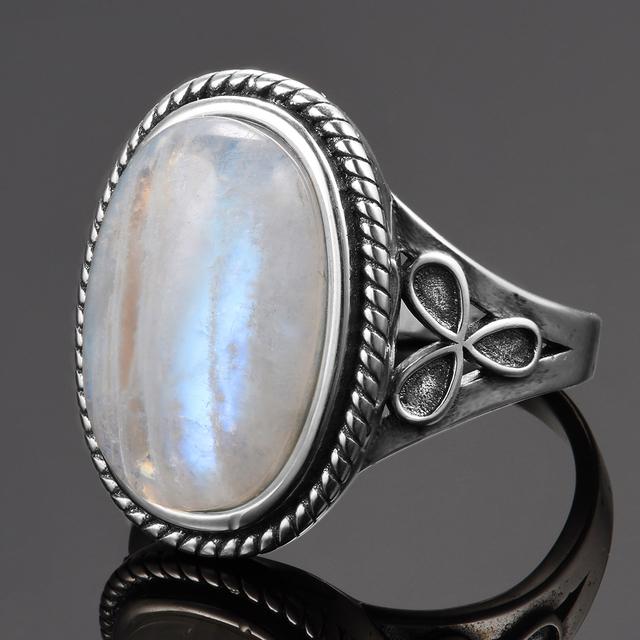 Natural Moonstone Vintage Ring