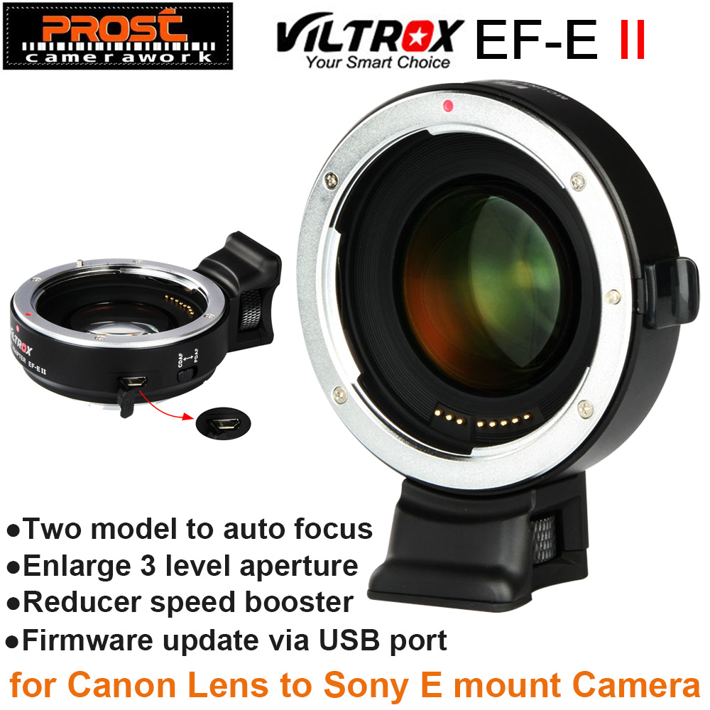 Viltrox EF-E II Auto Focus Reducer Speed Booster Lens Adapter for Canon EF Lens to Sony NEX E Camera A9 A7 A7R A7SII A6500 NEX-7 camera auto focus lens adapter ii for canon eos ef ef s to sony full frame nex a7 a7r