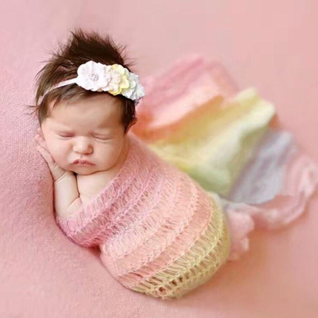 Baby Photography Props Blanket Rayon Wraps Stretch Knit Wrap Newborn Photo Wraps Hammock Swaddle Nubble Wrap Foto Blanket