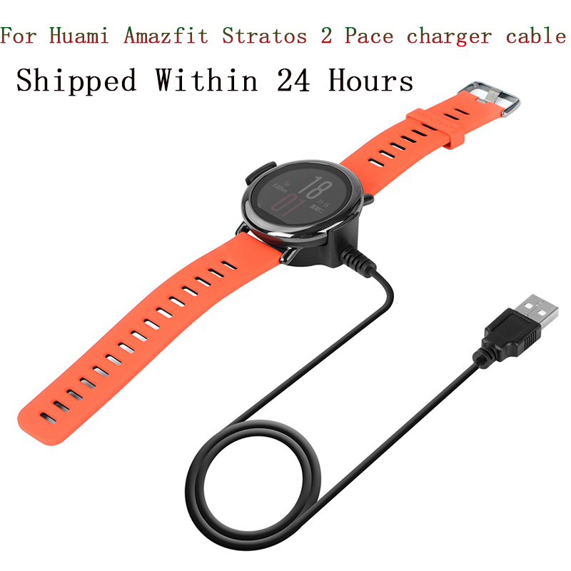 USB Charging Cable For Xiaomi Huami Stratos 2 Pace Cradle Charger Base For Huami Miband 3 Amazfit Bip Youth Smart Watch Charger