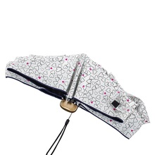 2016 TTK Mini five folding umbrellas women ultra small and lighter paraguas pocket umbrella pencil parasol anti UV