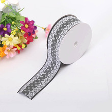 New Craftsmanship Satin Bandwidth 3.8 cm Dot Lace Accessory Clothing Decoration Sewing Tool Ribbon Processing Material
