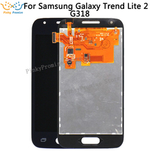 800x480 Samsung Galaxy Trend Lite Için 2 G318 G318H lcd ekran dokunmatik ekran sayısallaştırıcı yedek parçaları için SM g318 lcd