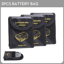 3pcs Lipo Battery Bags Explosion-proof Protector Fireproof Safe Bag Fiber Storage Box for DJI Mavic PRO Drone