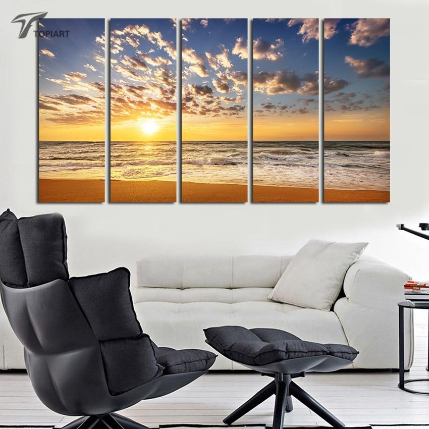 Online Get Cheap Large Beach Paintings Aliexpresscom