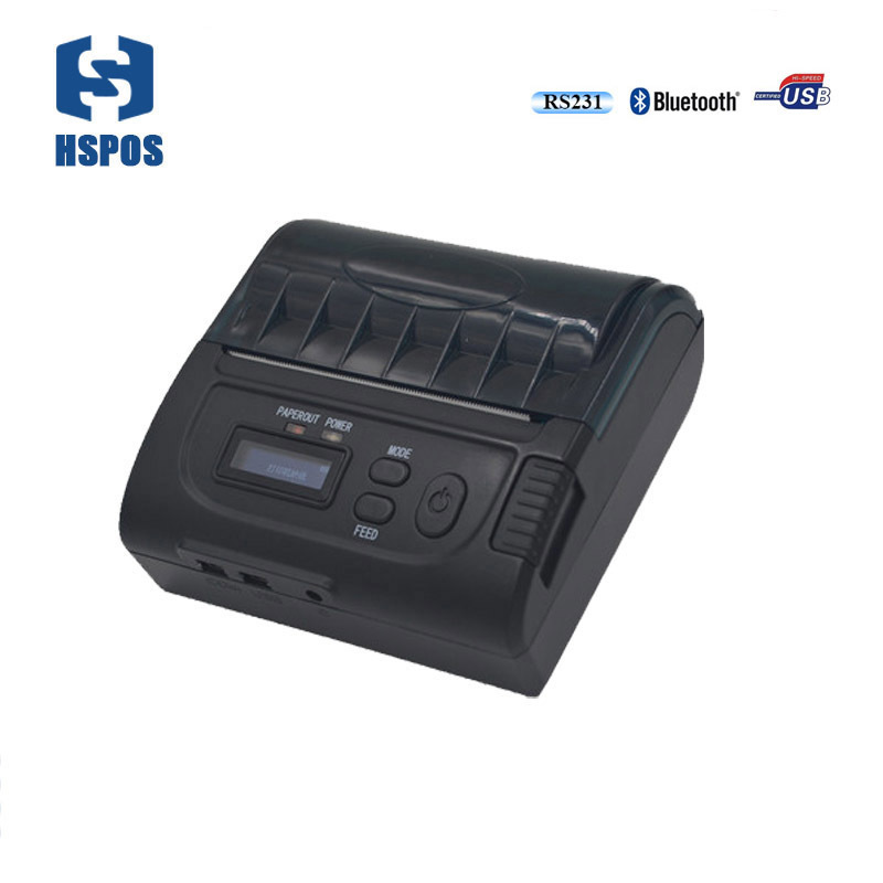 Mini thermal pocket printer with battery 80mm handheld android and IOS bluetooth receipt printing machine lcod t58zu pos58zu thermal receipt printer bill printing machine black