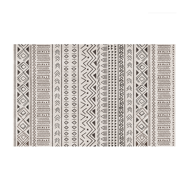 Tapis imprimé géométrique populaire INS de style marocain, tapis de table basse nordique de grande taille de salon, tapis de sol de décoration tout match - 6