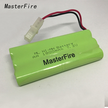 MasterFire New 7.2V AA 1800mAh Ni-MH Battery NiMH Rechargeable Batteries Pack With Plugs Free Shipping free shipping 2pcs pack ni mh rechargeable coin battery 80mah 1 2v button cell with welding leg