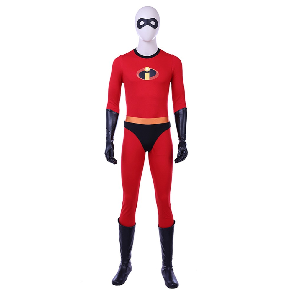 The Incredibles 2 Cosplay Mr Incredible Bob Parr Costumes Adult Men Outfit Jumpsuit Halloween Carnival Cosplay Costumes