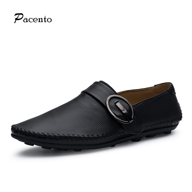 PACENTO Designer Men Shoes High Top Quality Luxury Brand Genuine Leather Shoes Mens 2017 Casual Loafers Driving Zapatillas Shoes top brand high quality genuine leather casual men shoes cow suede comfortable loafers soft breathable shoes men flats warm