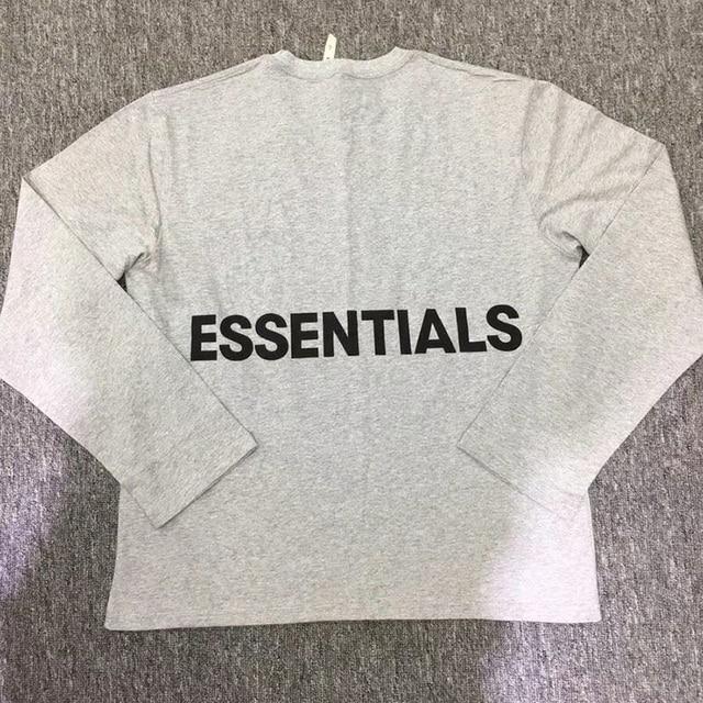 c722737fbb US $21.2 7% OFF|Fear Of God T Shirts Streetwear FOG Essentials Graphic Long  Sleeve T shirt 18SS Summer Autumn Men Women Fear Of God T Shirts-in ...