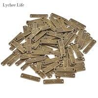 Lychee Life 100 шт., винтажный пошив одежды, этикетки, металлические этикетки ручной работы с буквами, швейные изделия DIY