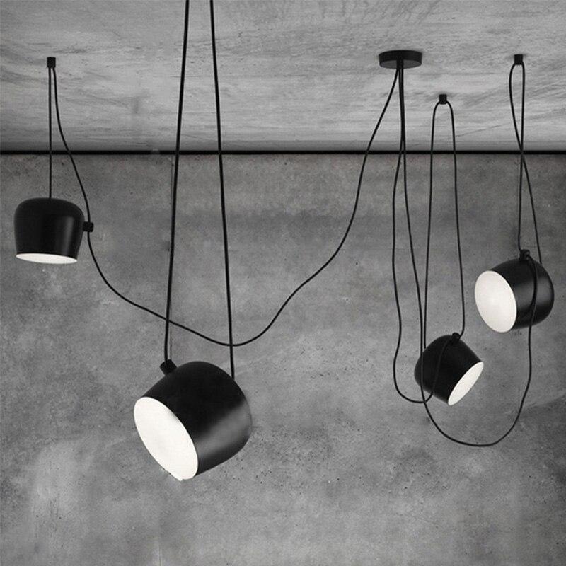 DIY vintage black pendant lights iron lamp shades loft designer for dining room industrial simple decoration hanging lamp
