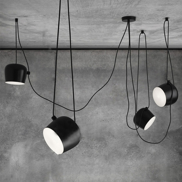 Diy vintage black pendant lights iron lamp shades loft designer diy vintage black pendant lights iron lamp shades loft designer for dining room industrial simple decoration mozeypictures Image collections