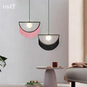 Image 3 - nordic designer tassel glass ball pendant lights for living room bedroom villa hotel home deco suspension luminaire led fixtures