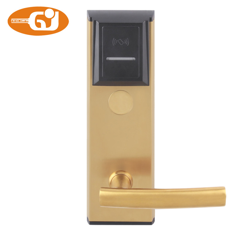 High Quality Zinc Alloy Electronic RFID IC card Hotel Lock hotel lock system rfid t5577 hotel lock gold silver zinc alloy forging material sn ca 8037