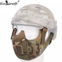 SINAIRSOFT Taktik Yarım Yüz Koruyucu Maske Gözlüğü Fit Ops-çekirdekli Hızlı Kask için Airsoft Paintball Avcılık Aksesuarları
