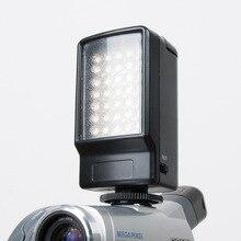 Luz fotográfica portátil 35 Mini LED Luz de Vídeo Foto Iluminação na sapata Da Câmara Pode Ser Escurecido Lâmpada LED para Canon Nikon Sony