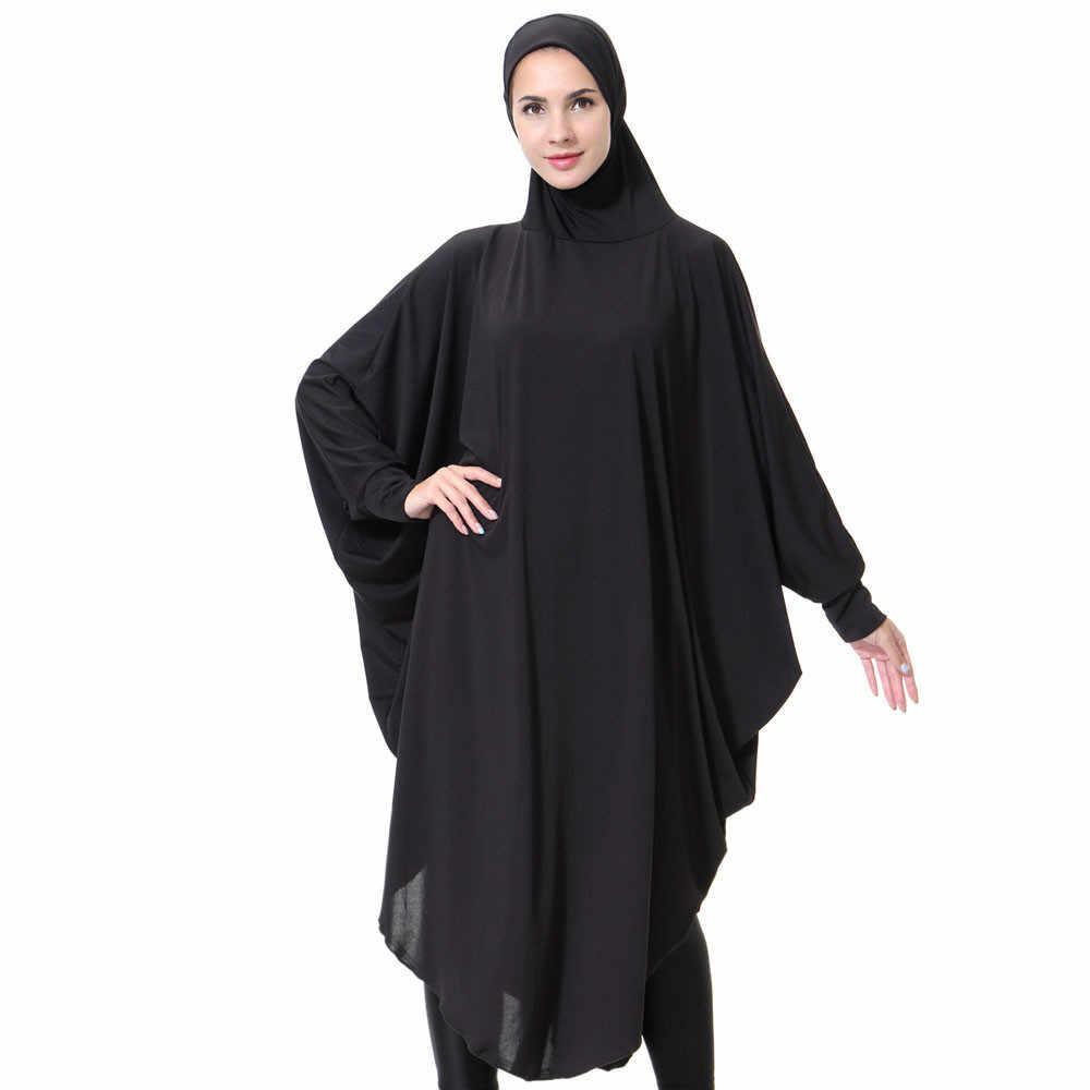 Женские повседневные мусульманские платья с длинным рукавом в винтажном стиле, Абая для женщин платье хиджаб C30118