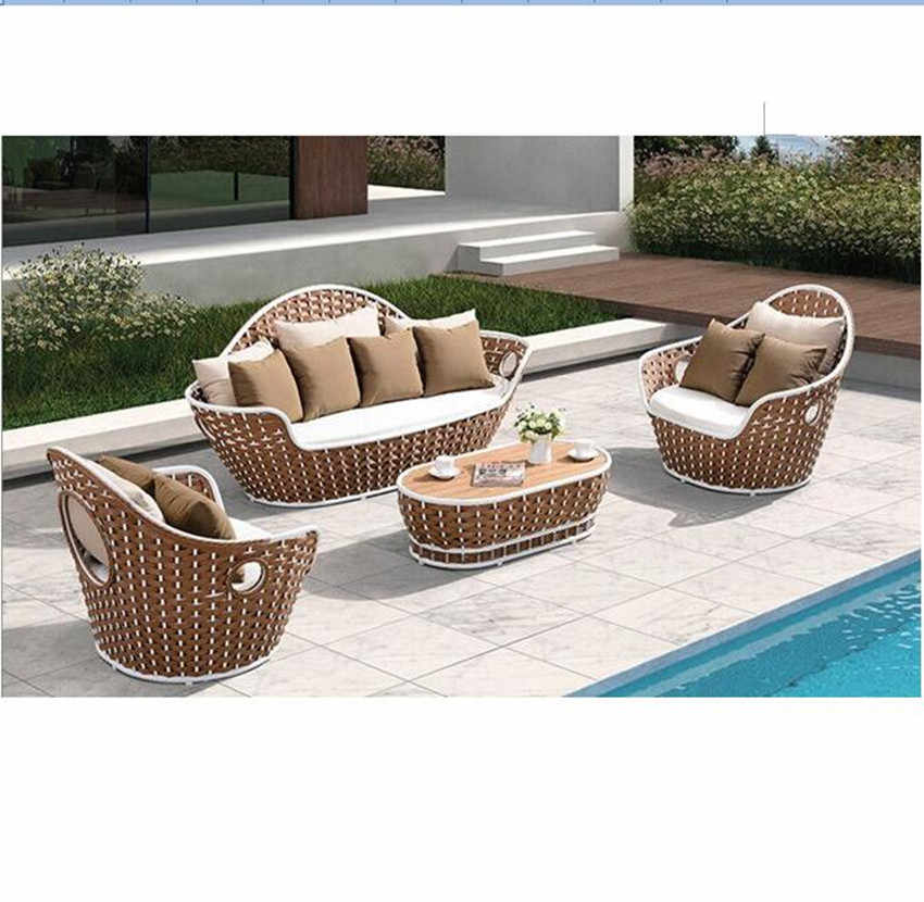 New arrival all weather rattan garden outdoor sofa furniture clearance