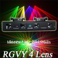Free Shipping Latest 4 Heads With RGVY Cheap Dj Effect Laser Show Light