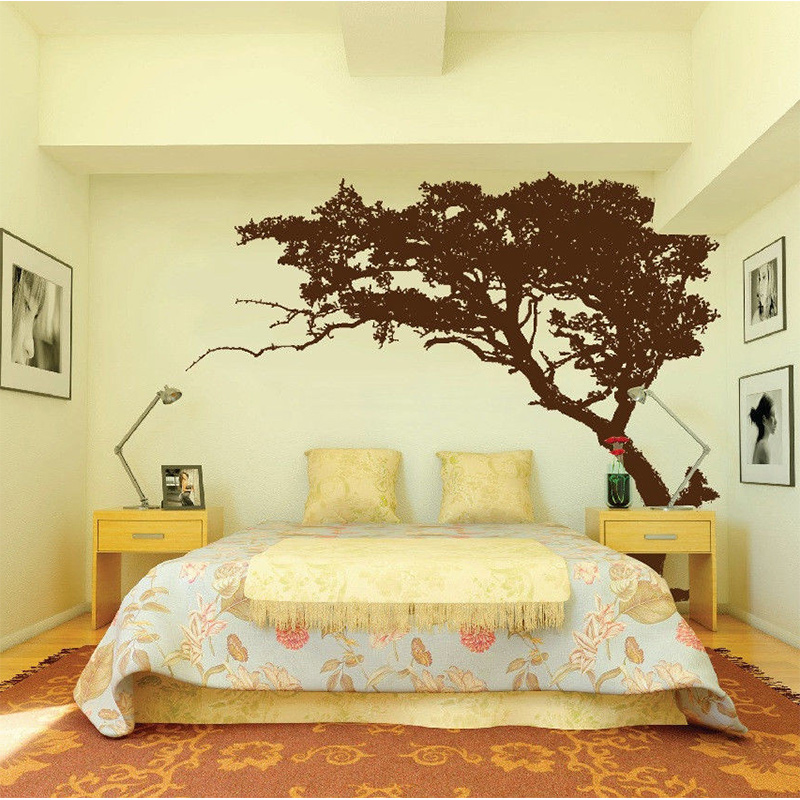 2017 New Large Wall Tree Nursery Decal Detailed Wall Art Sticker ...