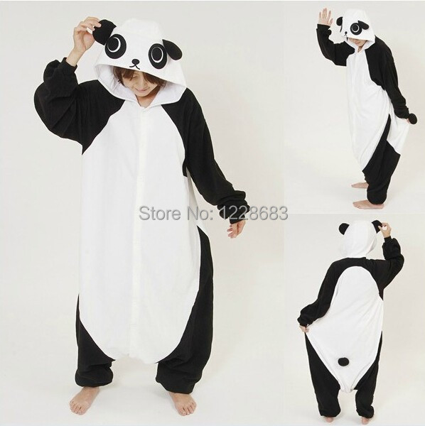 New Adult Animal Pajamas Rilakkuma kigurumi Panda Pajamas Sleepsuit Onesie Sleepwear Unisex Cosplay ...