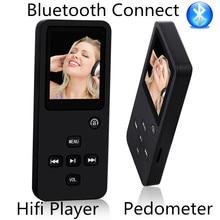 """2017 Nuevo 8 GB 16 GB Bluetooth Hi-Fi de Sonido Reproductor de MP3 Con podómetro 1.8 """"LCD Tiempo de Reproducción de Música 60 Horas Grabadora de Voz FM"""