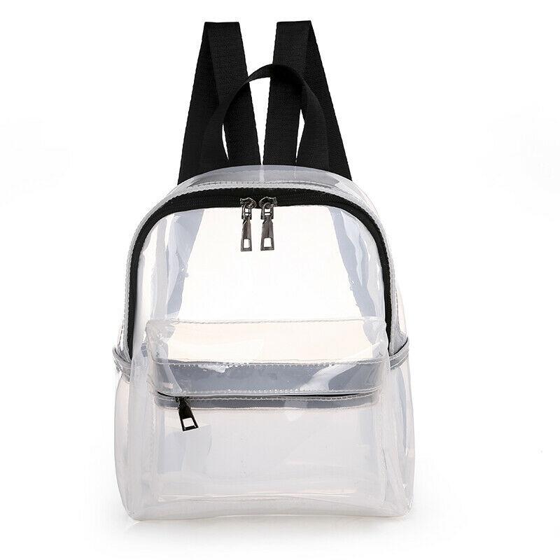Fashion Transparent PVC Women's Backpack Candy Color Trend Mini Bag Leisure Travel Shoulder Bag